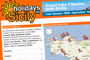 Sito web Holidays in Sicily