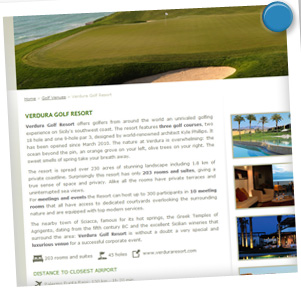restyling sito web arredigallina.it - scheda resort